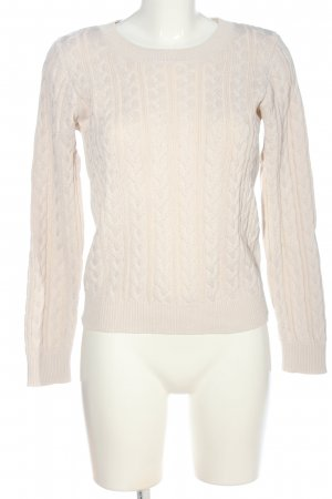 H&M Cable Sweater cream cable stitch casual look