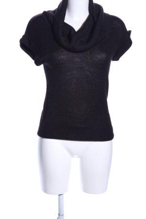 H&M Kurzarmpullover schwarz Casual-Look