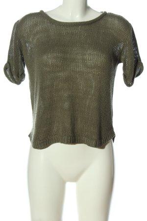 H&M Kurzarmpullover khaki Webmuster Casual-Look
