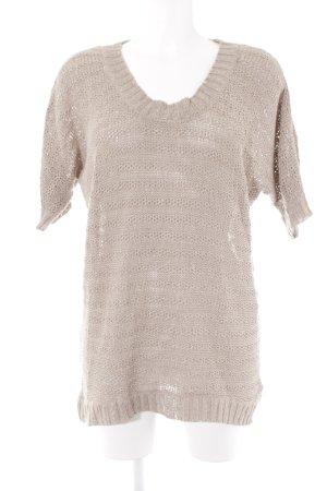 H&M Kurzarmpullover beige Casual-Look