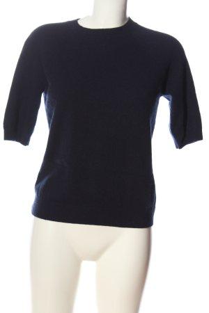 H&M Kurzarmpullover blau Casual-Look