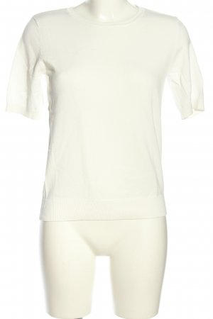 H&M Short Sleeve Sweater white casual look