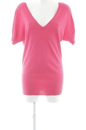 H&M Kurzarmpullover pink schlichter Stil