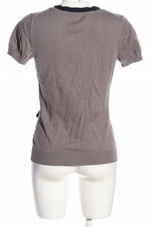 H&M Short Sleeve Knitted Jacket brown-black casual look