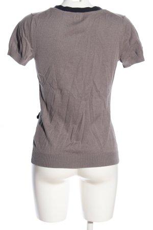 H&M Cardigan a maniche corte marrone-nero stile casual