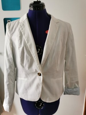 H&M Blazer corto blanco Algodón