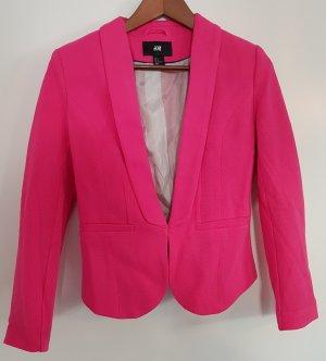 H&M Kurzblazer, pink, Größe 36