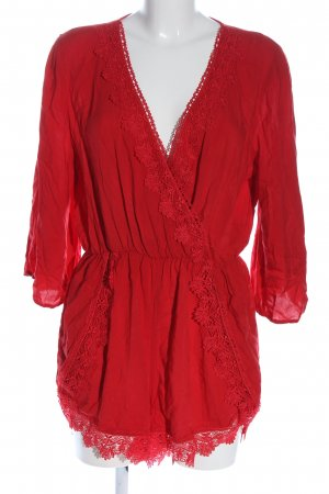 H&M Kurzer Jumpsuit rot Casual-Look