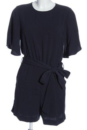 H&M Kurzer Jumpsuit blau Casual-Look