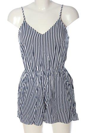 H&M Kurzer Jumpsuit blau-weiß Streifenmuster Casual-Look
