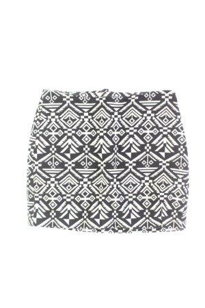 H&M Kurzer Rock Größe 34 geometrisches Muster mehrfarbig aus Baumwolle