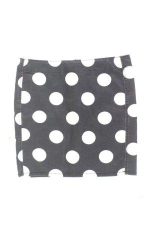 H&M Kurzer Rock Größe 36 gepunktet schwarz aus Baumwolle