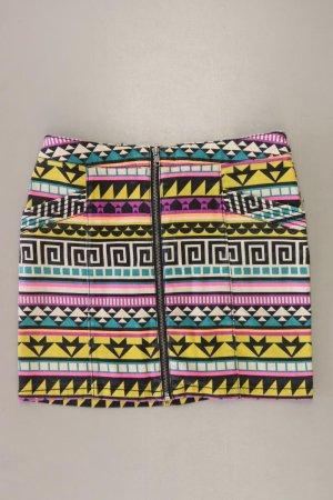 H&M Kurzer Rock Größe 38 geometrisches Muster mehrfarbig aus Baumwolle