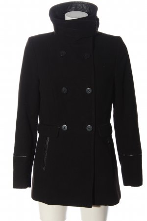 H&M Pea Jacket black business style