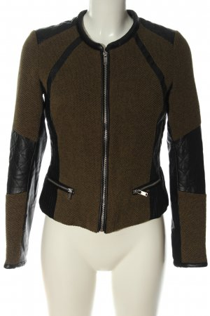 H&M Kurzjacke schwarz-braun Casual-Look