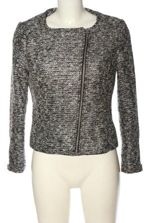 H&M Kurzjacke schwarz-silberfarben meliert Casual-Look