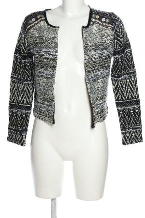 H&M Kurzjacke schwarz-weiß grafisches Muster Casual-Look
