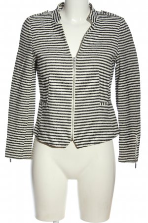 H&M Kurzjacke weiß-schwarz Streifenmuster Casual-Look