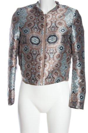 H&M Veste courte brun-turquoise motif abstrait style décontracté