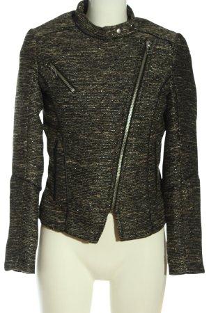 H&M Kurzjacke schwarz-wollweiß Casual-Look