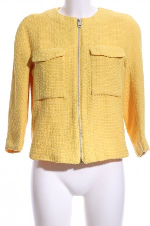 H&M Kurzjacke gelb Webmuster Casual-Look