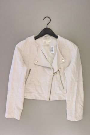 H&M Kurzjacke Größe 42 creme aus Baumwolle