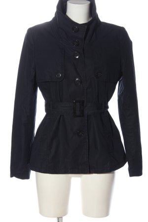H&M Krótki płaszcz czarny W stylu casual