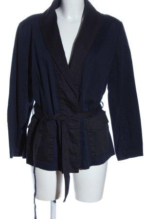 H&M Kurzmantel blau-schwarz Casual-Look