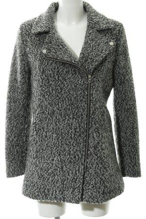 H&M Kurzmantel grau-schwarz meliert Casual-Look