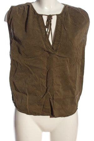 H&M L.O.G.G. ärmellose Bluse braun Casual-Look