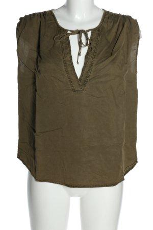 H&M L.O.G.G. ärmellose Bluse khaki Casual-Look