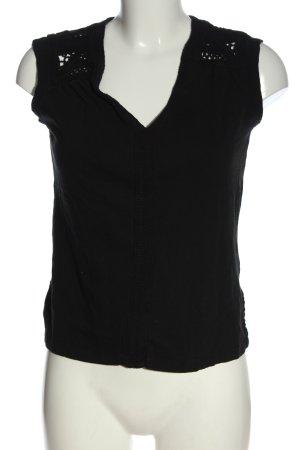 H&M L.O.G.G. ärmellose Bluse schwarz Casual-Look