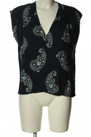 H&M L.O.G.G. ärmellose Bluse abstraktes Muster Casual-Look