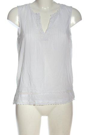 H&M L.O.G.G. ärmellose Bluse weiß Casual-Look