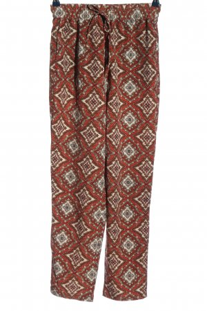 H&M L.O.G.G. Baggy Pants rot-wollweiß abstraktes Muster Casual-Look
