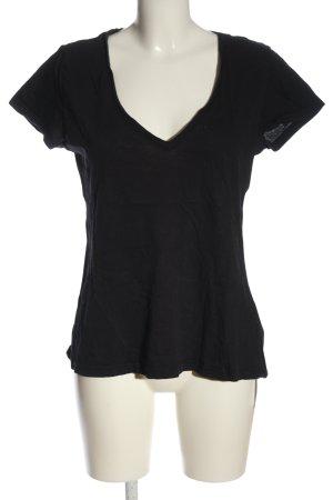 H&M L.O.G.G. Basic-Shirt schwarz Casual-Look