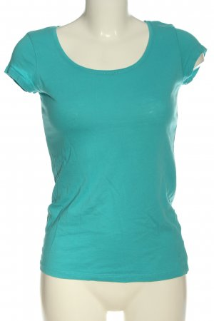 H&M L.O.G.G. Basic-Shirt türkis Zopfmuster Casual-Look