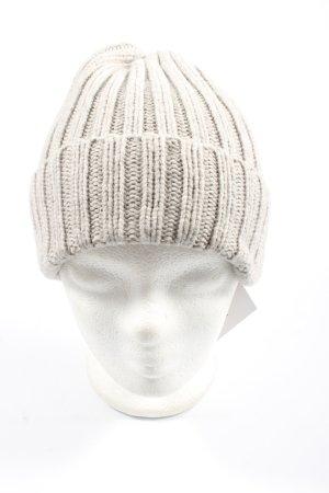 H&M L.O.G.G. Bonnet gris clair torsades élégant