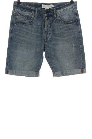H&M L.O.G.G. Bermudy niebieski W stylu casual
