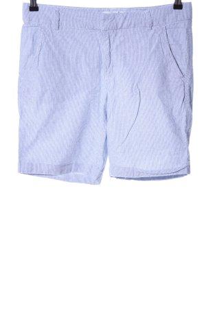 H&M L.O.G.G. Bermuda weiß-blau Streifenmuster Casual-Look