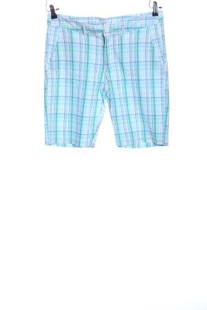 H&M L.O.G.G. Bermuda turkoois-blauw geruite print casual uitstraling
