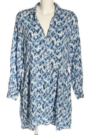 H&M L.O.G.G. Blusenkleid blau-weiß abstraktes Muster Casual-Look