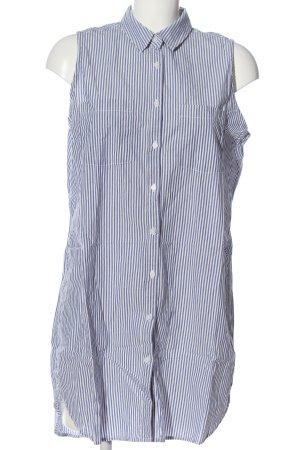 H&M L.O.G.G. Blusenkleid weiß-blau Streifenmuster Casual-Look