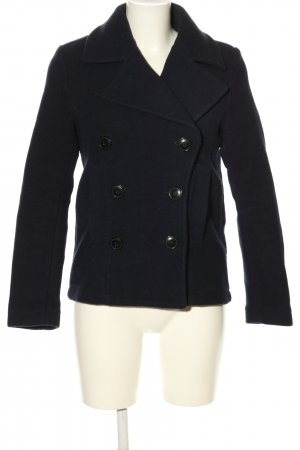 H&M L.O.G.G. Heavy Pea Coat black business style