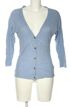 H&M L.O.G.G. Cardigan blau meliert Casual-Look