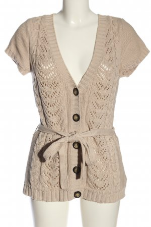 H&M L.O.G.G. Cardigan creme Zopfmuster Casual-Look