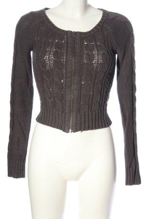 H&M L.O.G.G. Kardigan jasnoszary Warkoczowy wzór W stylu casual