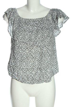 H&M L.O.G.G. Blusa tipo Carmen blanco-gris claro look casual