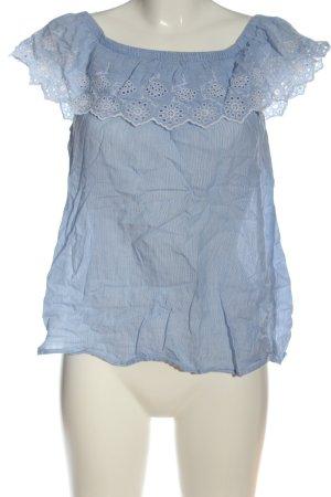 H&M L.O.G.G. Carmen-Bluse blau Casual-Look