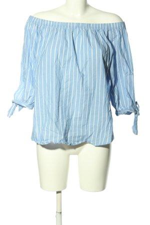 H&M L.O.G.G. Carmen Blouse blue-white striped pattern casual look